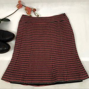 💚 Etcetera Red and Black Striped Skirt, 6